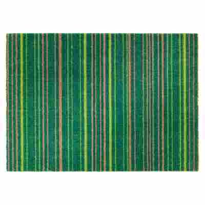 """Sauberlaufmatte """"Brooklyn"""" Streifen grün 70 x 50 cm"""