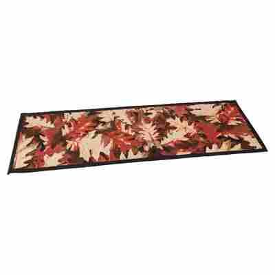 """Teppichläufer """"Blätter"""" Polyamid braun/beige 67 x 200 cm"""