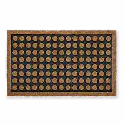 Fußmatte 'Coco Home' braun gepunktet 40 x 60 cm