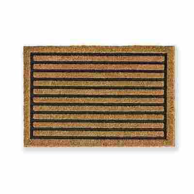 Fußmatte 'Coco Home' braun gestreift 40 x 60 cm