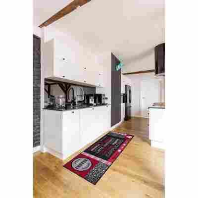 Fußmatte Café 50 x 150 cm grau-rot