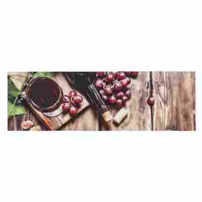 Sauberlaufmatte 'Miabella' 50 x 150 cm Wein braun