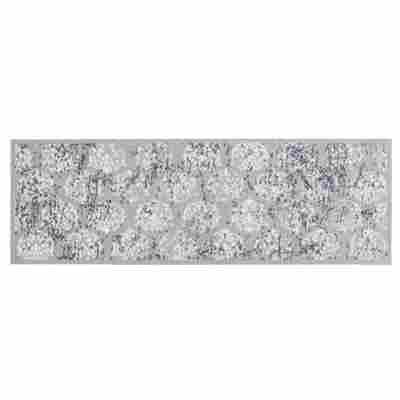 Sauberlaufmatte 'Miabella' 50 x 150 cm Ornamente hellgrau
