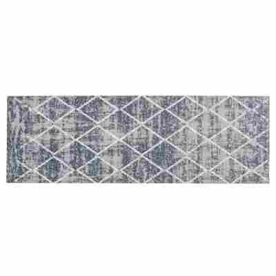 Sauberlaufmatte 'Miabella' 50 x 150 cm Rauten grau