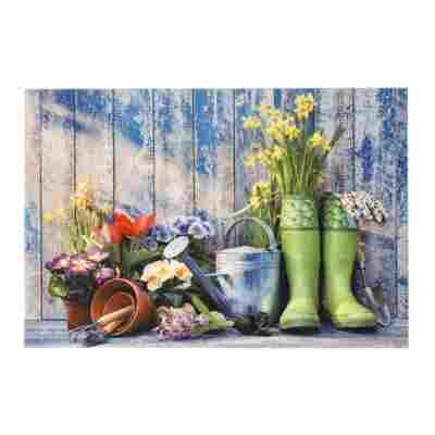 Sauberlaufmatte 'Deco Print' 40 x 60 cm Garden Tools blau
