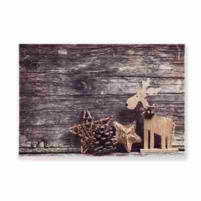 Sauberlaufmatte 'Deco Print' 40 x 60 cm Rentier braun