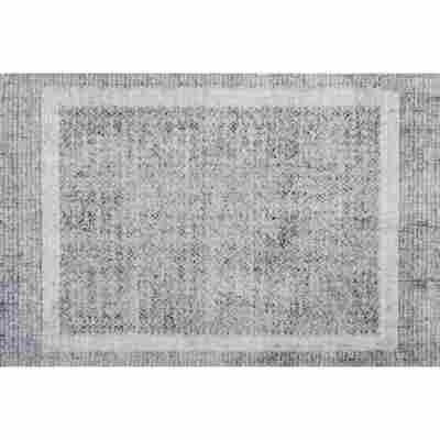 Fußmatte 'BB Square' shiny silver 50 x 70 cm