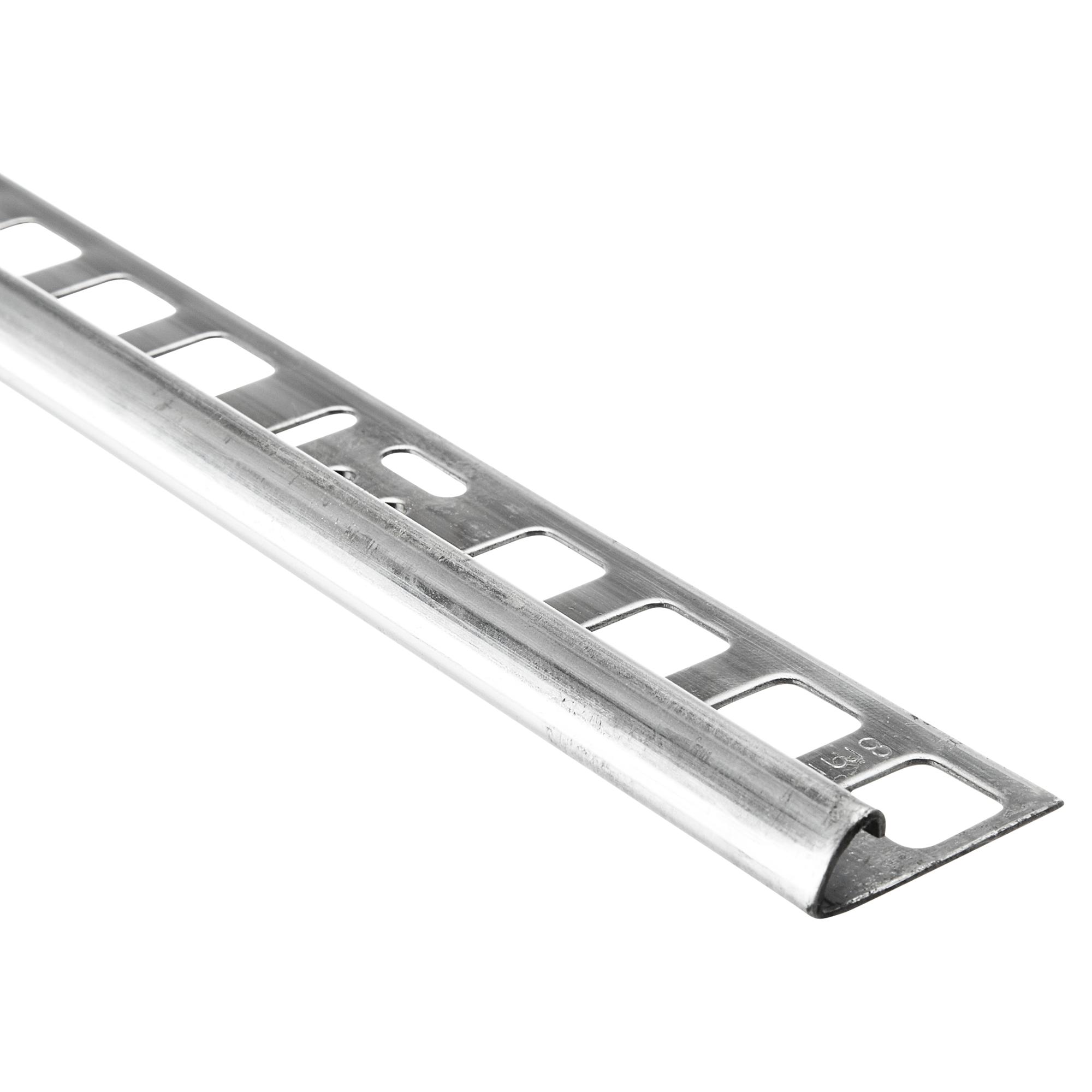 🥇 8,8 € Alfer Viertelkreisprofil Edelstahl silber 8 x 8 mm