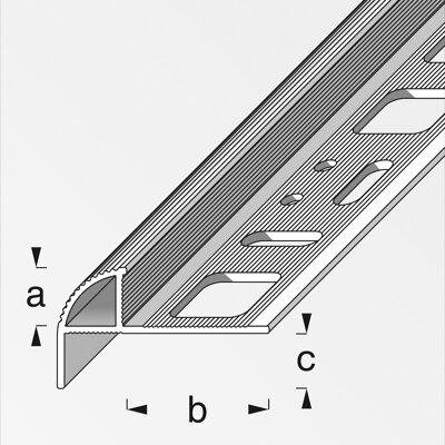 treppenkantenprofil silbern 10 x 19 5 x 7 5 mm toom baumarkt. Black Bedroom Furniture Sets. Home Design Ideas