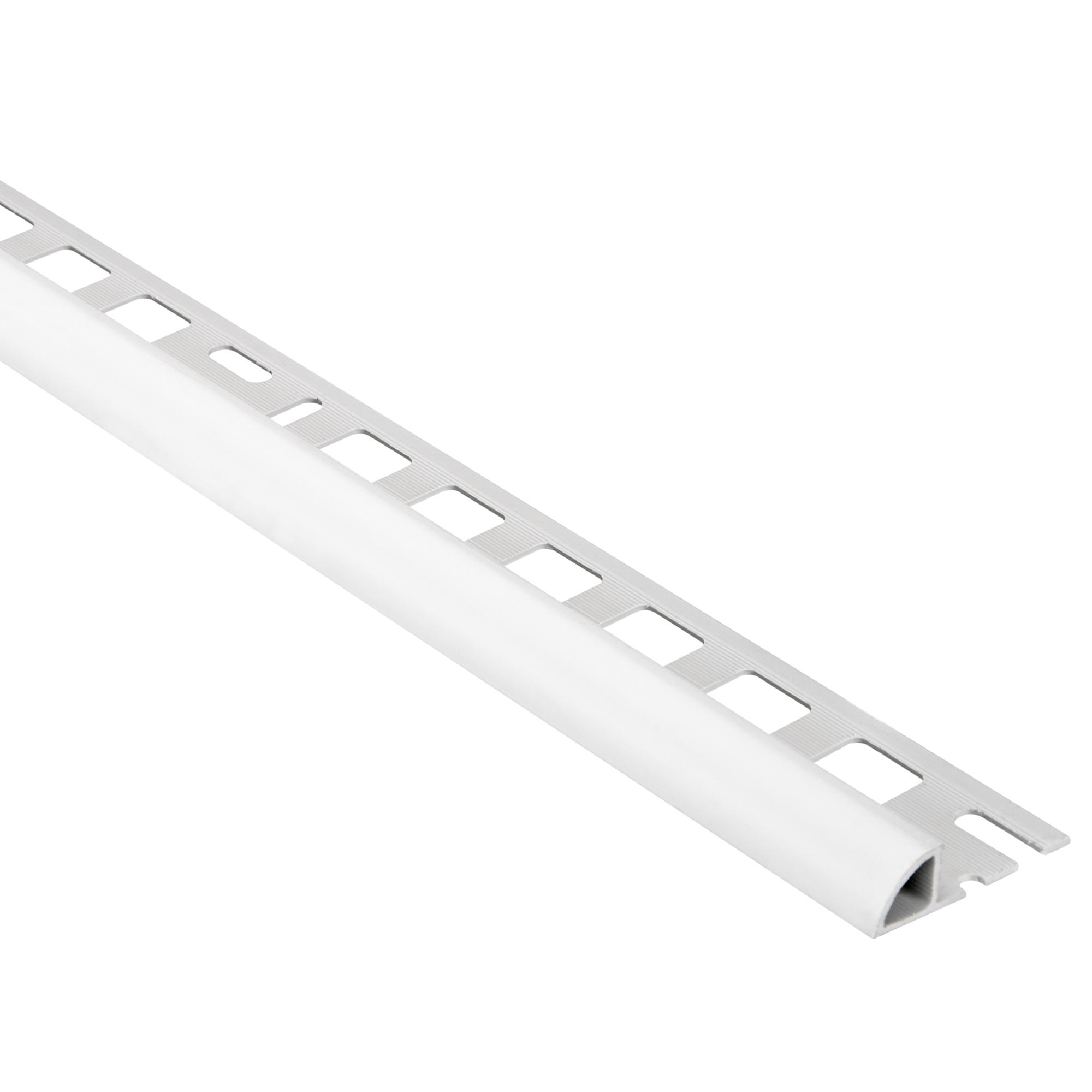 Alfer PVC Viertelkreisprofil silber 8 x 8,8 x 8 mm