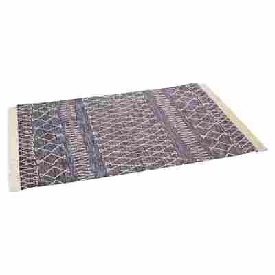 """Teppich """"Navajo"""" anthrazit-weiß 130 x 190 cm"""