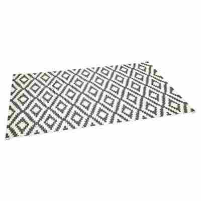 "Teppich ""Rhomb"" creme-grau 133 x 190 cm"