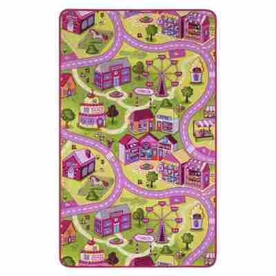 Spielteppich 'Sweet Village' bunt 100 x 165 cm