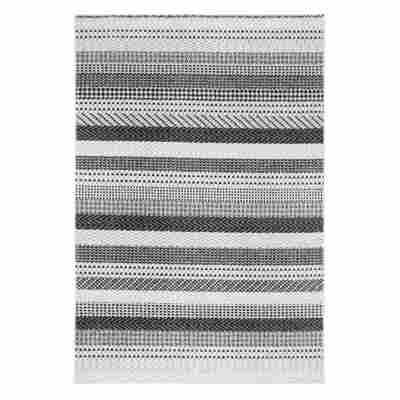 Teppich 'Bolonia' hellgrau/grau 60 x 110 cm