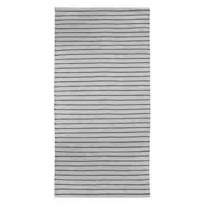 Teppich 'Missouri' silbern/dunkelgrün 60 x 120 cm