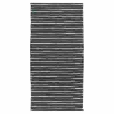 Teppich 'Missouri' dunkelgrün/silbern 60 x 120 cm