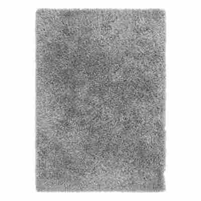 Teppich 'Levanto Deluxe' 65 x 130 cm silber