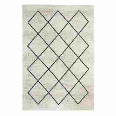 Teppich 'Bolonia' 60 x 110 cm creme-grau