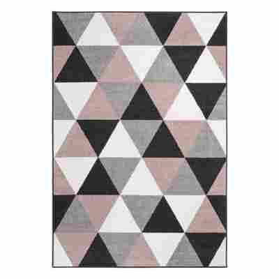 Teppich 'Salamanca' 60 x 110 cm altrosa-grau