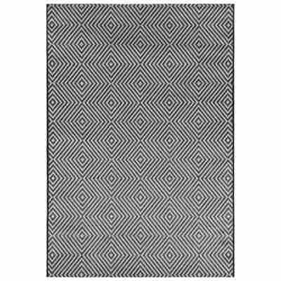 Outdoor-Teppich anthrazit 180 x 120 cm