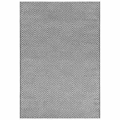 Outdoor-Teppich silbern 180 x 120 cm