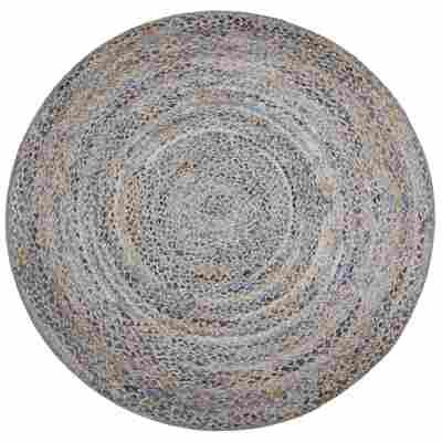 Teppich 'Wash+Store 6524' blau-beige Ø 100 cm