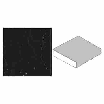 Küchenarbeitsplatte 4100 x 600 x 39 mm Marmor Marquina Kaviar grau