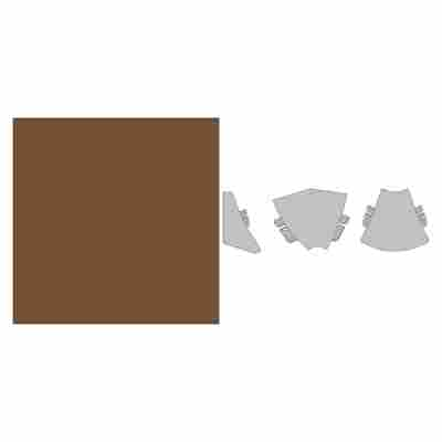 "Innenecke ""Plus"" Maroon braun 90° 35 x 35 x 35 mm"