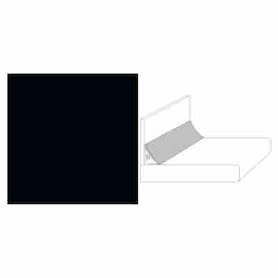 "Wandanschlussprofil ""Plus"" Uni schwarz 3000 x 20 x 30 mm"