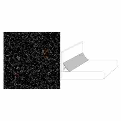 "Wandanschlussprofil ""Plus"" Terrazzo Adige schwarz 59 x 2 x 3 cm"