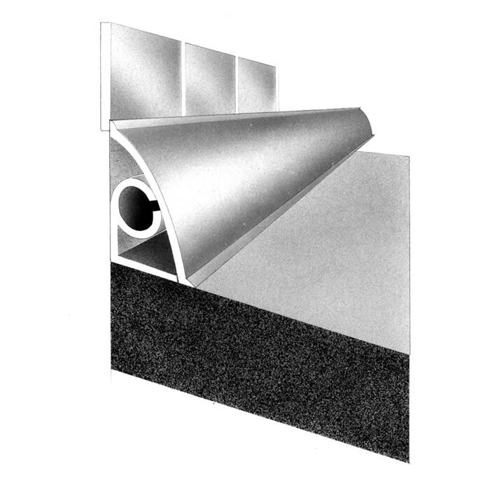 Wandanschlussprofil 8 x 8 x 8 mm