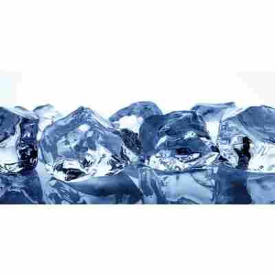 Glasrückwand 'WandArt vitre' 120 x 58,5 cm ice cubes