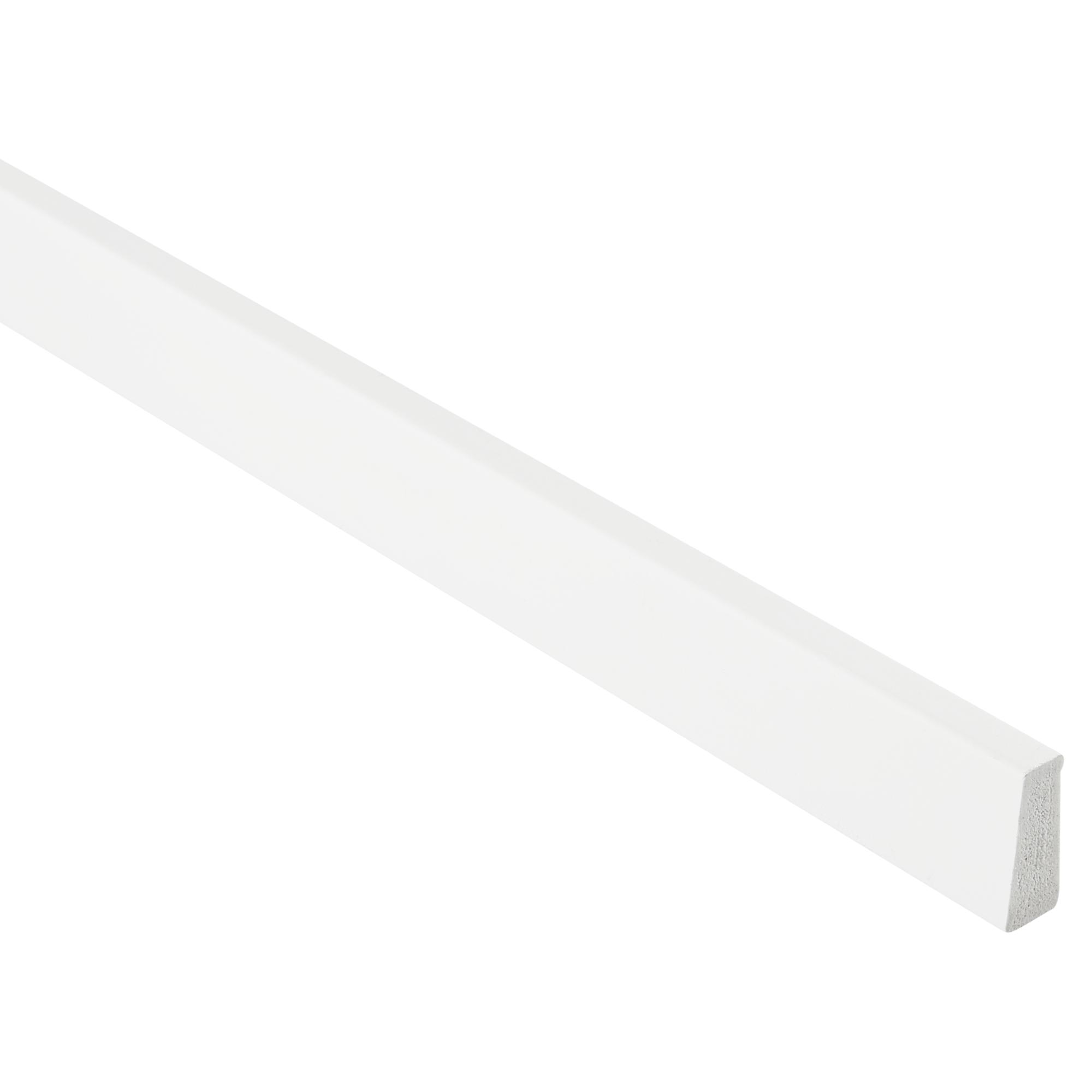 Primo Wandabschlussleiste Kunststoff weiß 8 x 8 mm