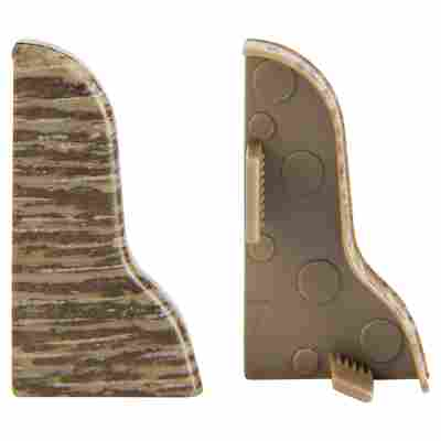 Endkappe geschwungen Steineiche 20 x 40 mm, 2 Stück