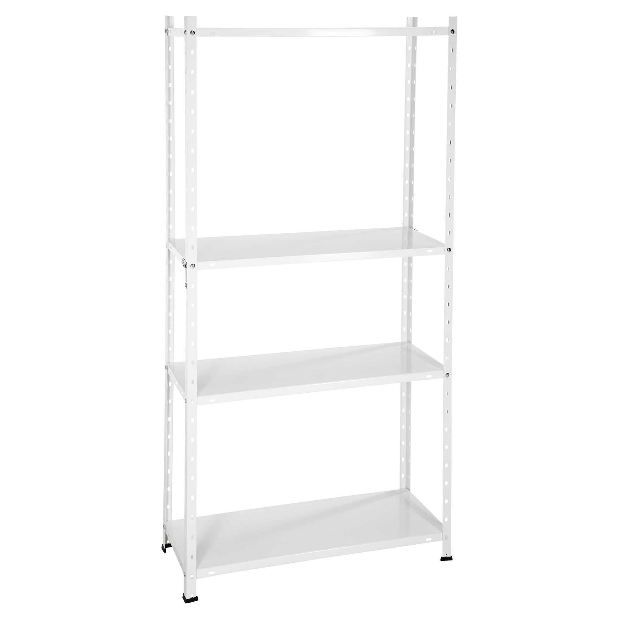 Metallregal weiß  Metallregal weiß 150 x 75 x 30 cm ǀ toom Baumarkt