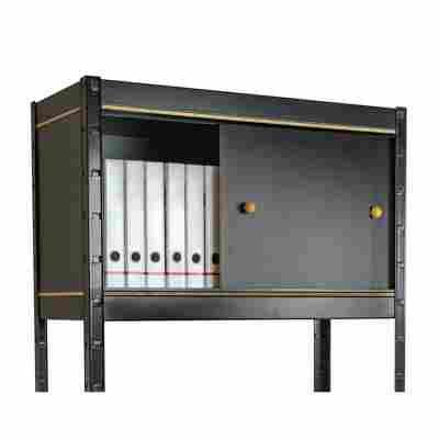 Stecksystem-Schrank 'L' schwarz 100 x 44 x 40 cm