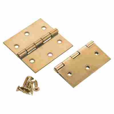 Scharniere Stahl gelb passiviert 3 x 2x 1,5 cm 2 Stück