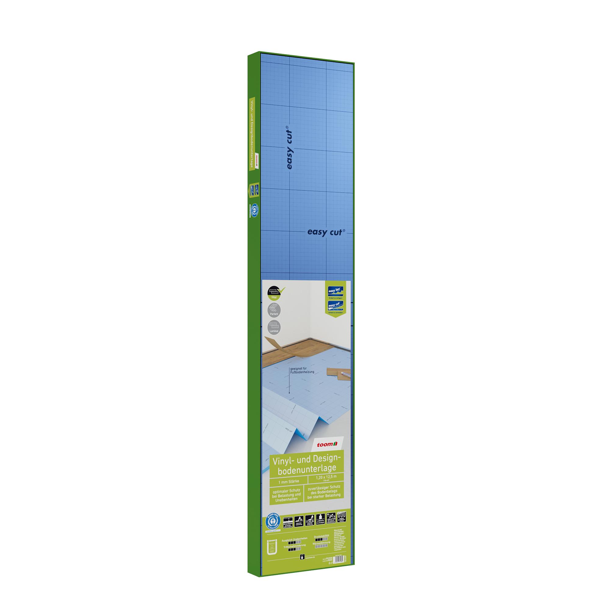 6,90 EUR//m² 1,5mm Vinyl Dämmunterlage Trittschalldämmung für Fußbodenheizung