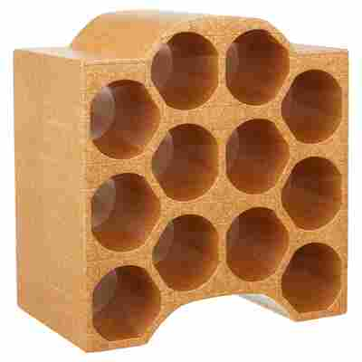 Flaschenbox Bogen Styropor terrakottafarben