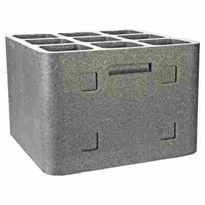 """Weinlagerstein """"Cube"""" Styropor grau"""