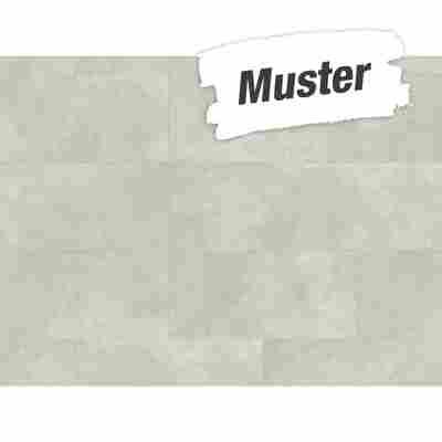 Muster zum Designboden 'Modular ONE' Beton weiß 8 mm