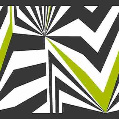 Stick Up Contzen Muster grün schwarz