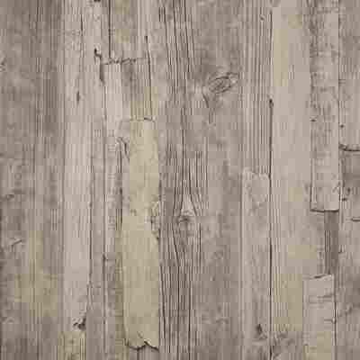 "Vliestapete ""Decoworld"" Holz-Optik grau"