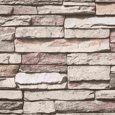 Vliestapete 10,05 x 0,53 m Stein schwarz