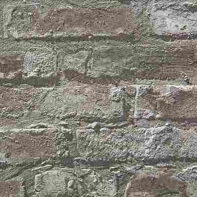 Vliestapete 10,05 x 0,53 m Klinkerstein schwarz
