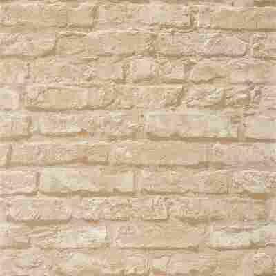 Vliestapete 10,05 x 0,53 m Klinkerstein beige