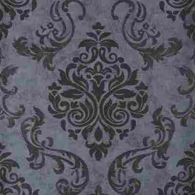 Vliestapete 10,05 x 0,53 m Natur-modern grau/metallic/schwarz