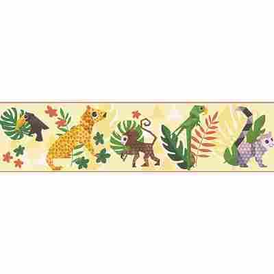 Papierbordüre 'Esprit Kids 4' Dschungel bunt/gelb 5 x 0,13 m