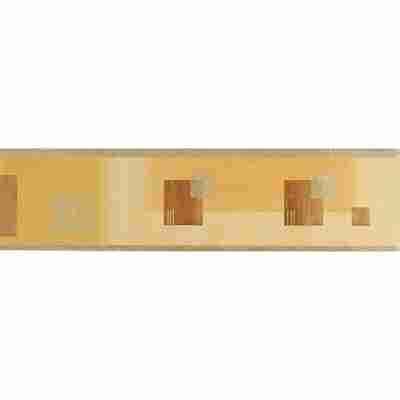 "Papierbordüre ""No. 8"" Quadrate beige braun metallic 5 x 0,13 m"