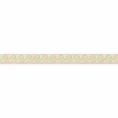 "Folienbordüre ""Rapido 2011"" selbstklebend Grafik beige/weiß 5 x 0,05 m"